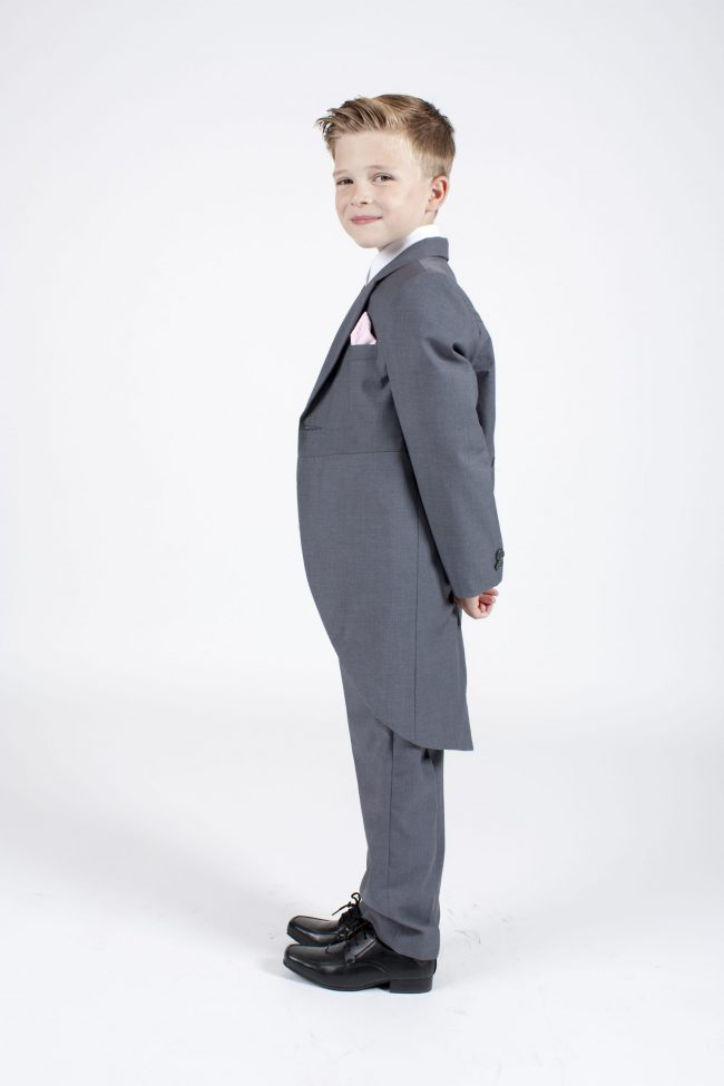 5 piece grey/pink diamond tailcoat -1354