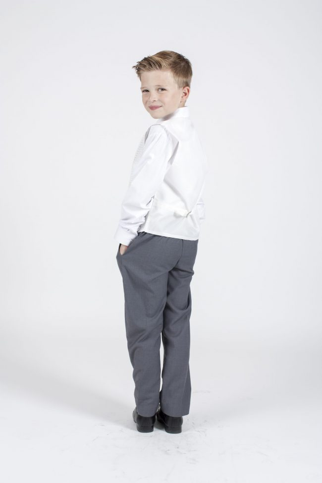5 piece grey/ivory diamond tailcoat-1333