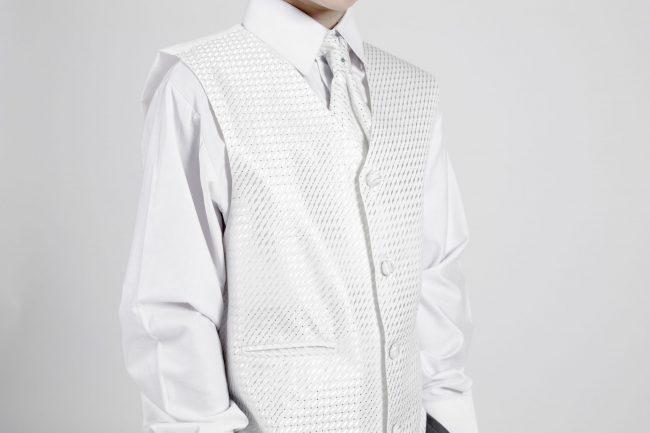 5 piece grey/ivory diamond tailcoat-1337