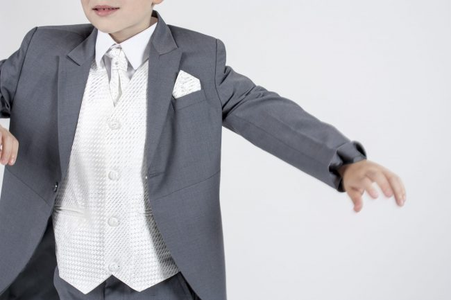 5 piece grey/ivory diamond tailcoat-1335