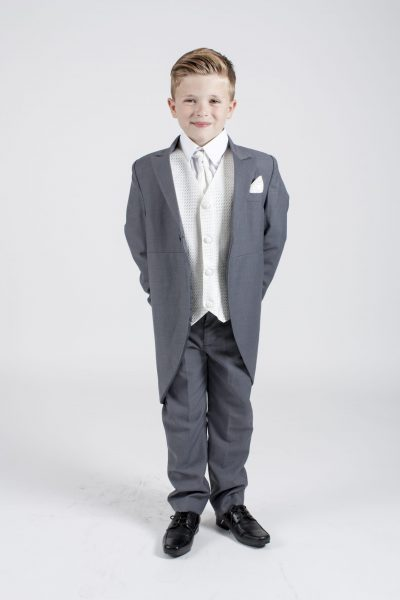 5 piece grey/ivory diamond tailcoat-0