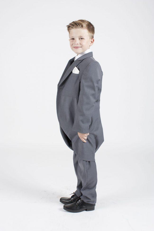 5 piece grey/ivory diamond tailcoat-1332