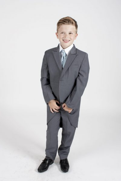 5 Piece Grey/blue swirl tailcoat-0