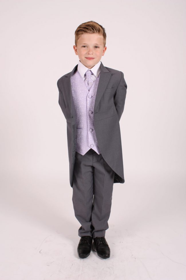 5 piece grey/ lilac swirl tailcoat-1340