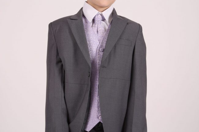 5 piece grey/ lilac swirl tailcoat-1344