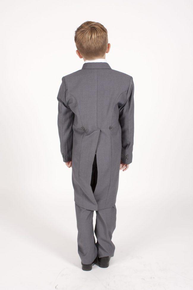 5 piece grey/ wine dobby tailcoat -1385