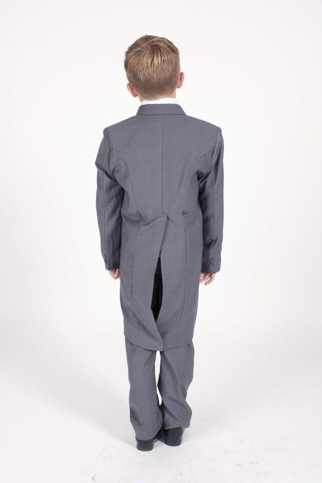 5 piece grey/cream Dobby tailcoat -1319