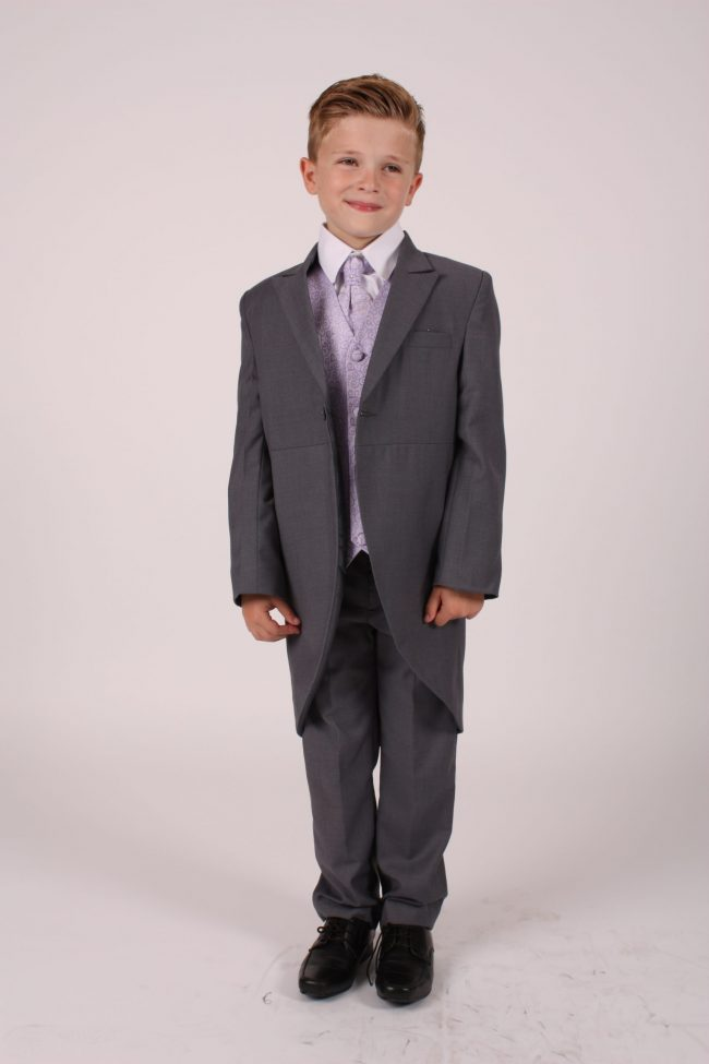 5 piece grey/ lilac swirl tailcoat-0