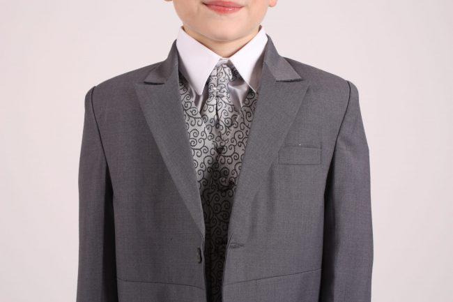 5 piece grey swirl tailcoat-1331
