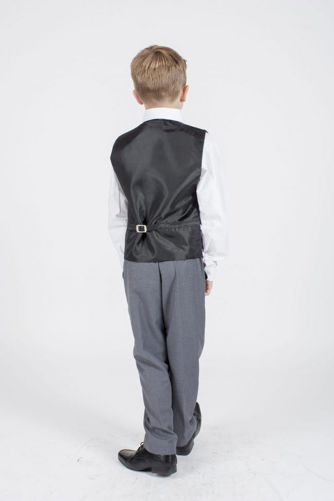 5 piece grey/ purple diamond tailcoat -1374