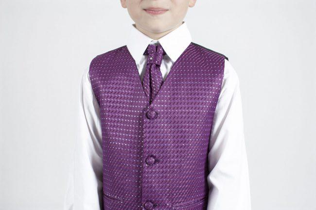 5 piece grey/ purple diamond tailcoat -1369