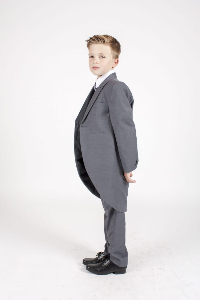 5 piece grey/ navy swirl tailcoat -1350