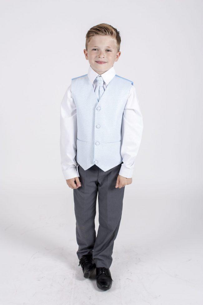 5 piece grey/blue diamond tailcoat -1284