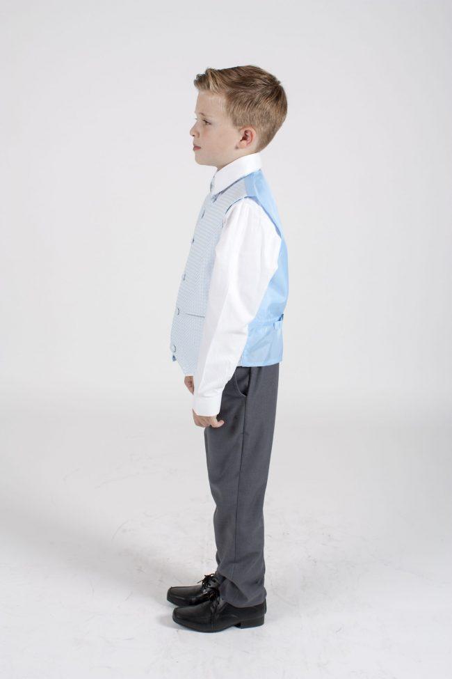 5 piece grey/blue diamond tailcoat -1280