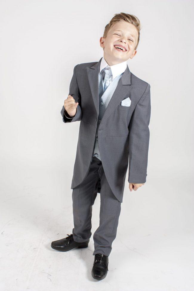 5 piece grey/blue diamond tailcoat -1278