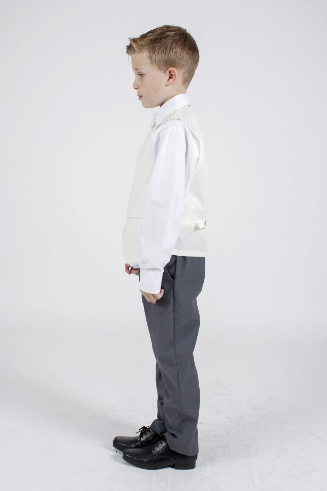 5 piece grey/cream Dobby tailcoat -1318