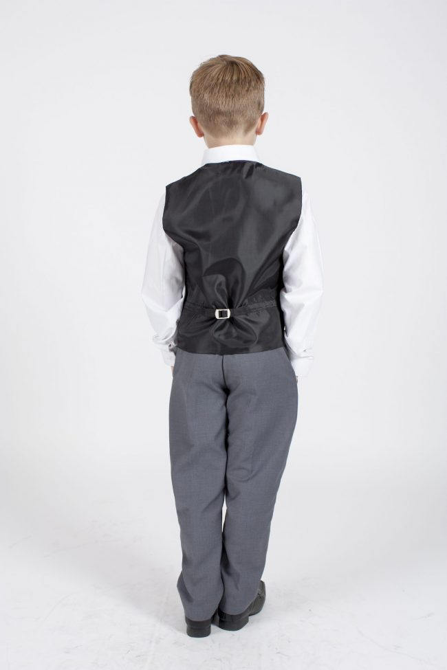 5 piece grey/purple dobby tailcoat -1379