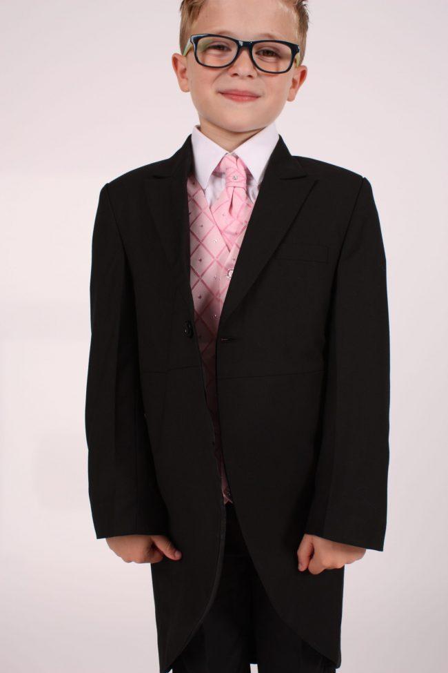 5 piece black/ pink dobby -1407