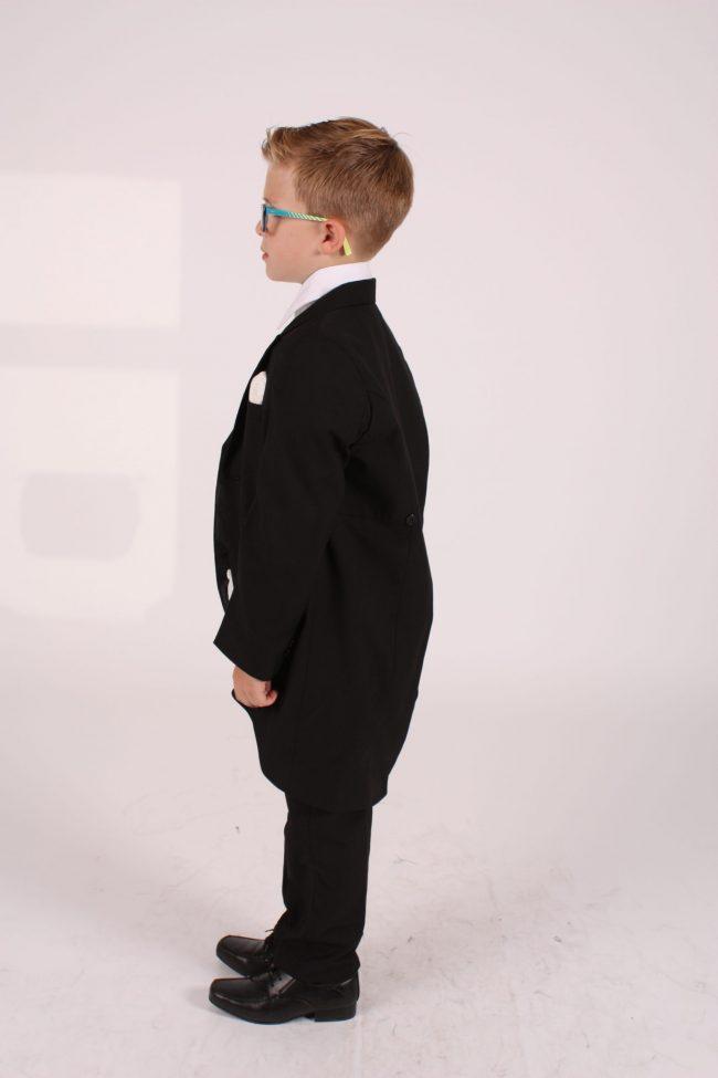 5 Piece black/ ivory diamond tailcoat -1401
