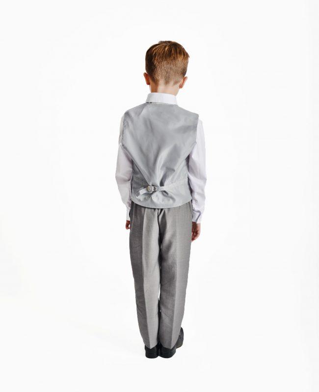 Boys 4 Piece Silver Swirl Suit-1459