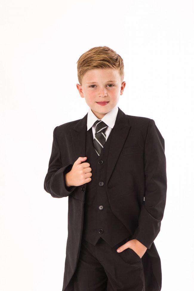 5 piece boys black tailcoat -1436