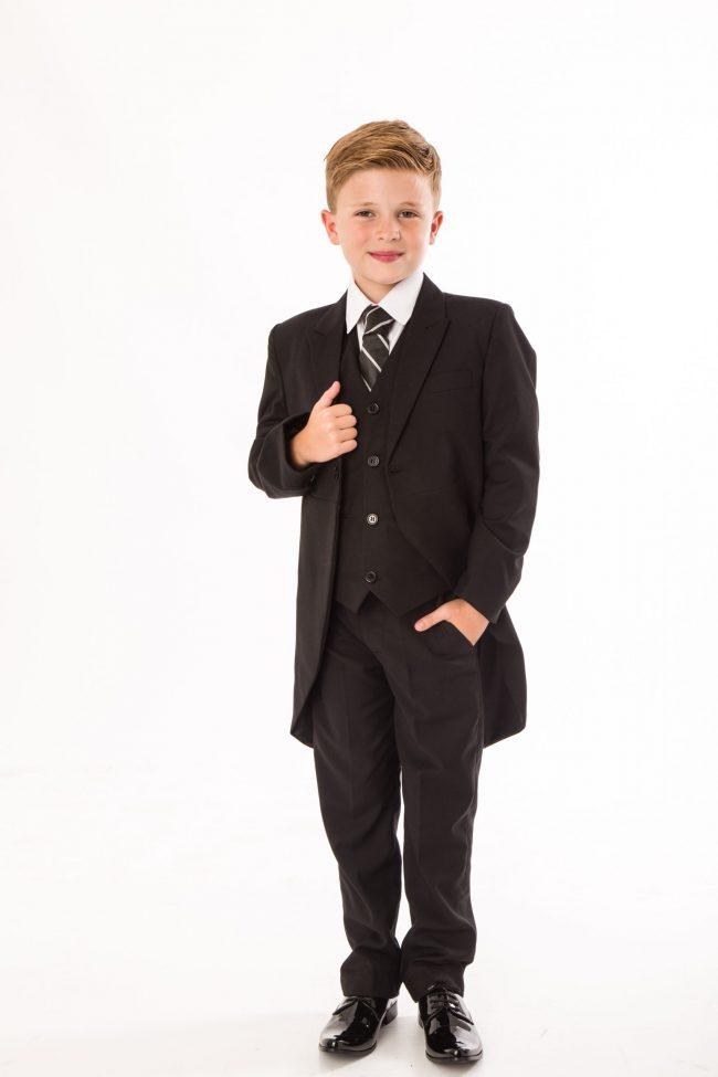 5 piece boys black tailcoat -0