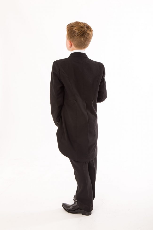 5 piece boys black tailcoat -1437