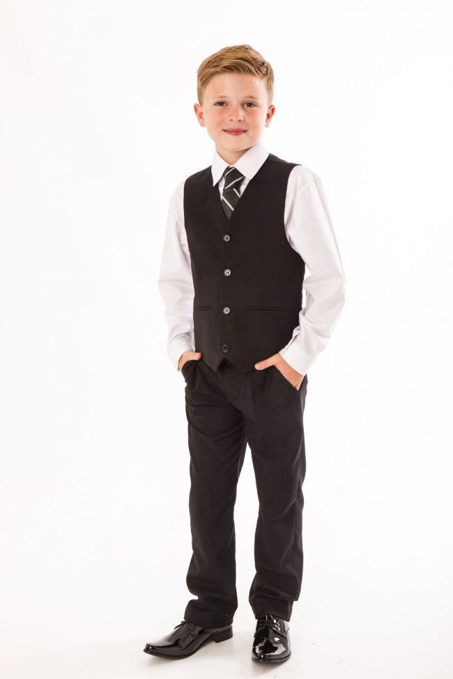 5 piece boys black tailcoat -1433