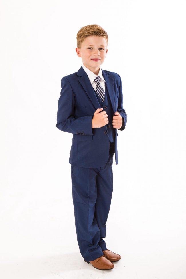 5 piece blue suit-0