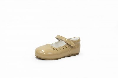 Girls Early Steps Brogue shoes in Beige-0