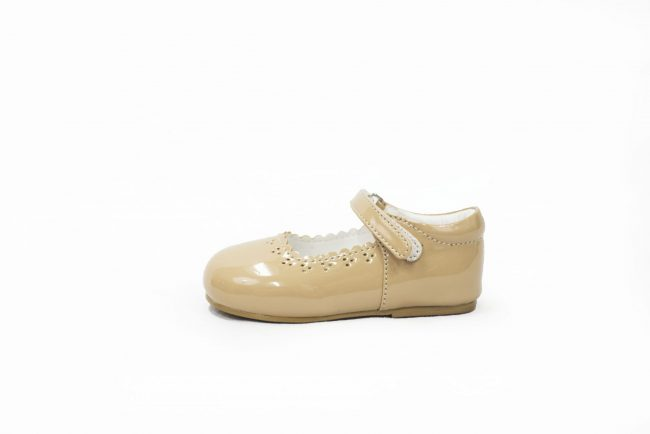 Girls Early Steps Brogue shoes in Beige-1466