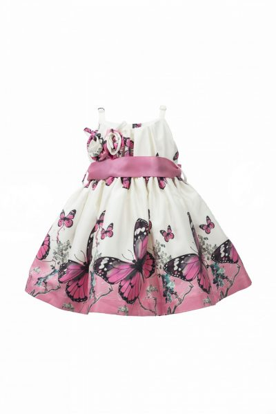 Pink butterfly dress-0