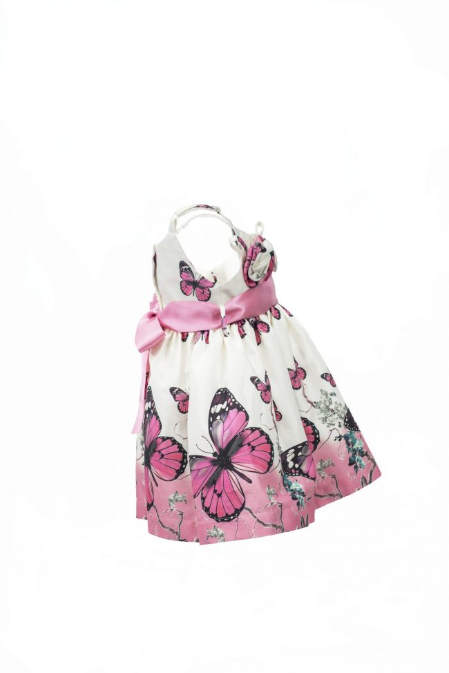 Pink butterfly dress-1470