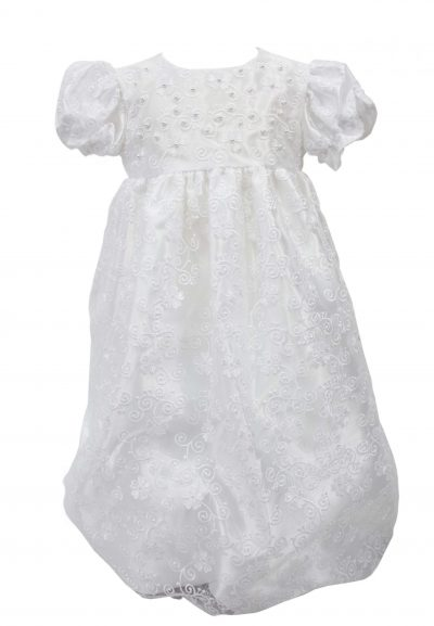 swirl floral design christening dress-0