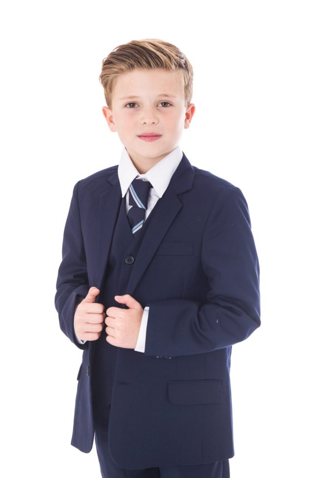 5 Pc Navy Vivaki suit-1501