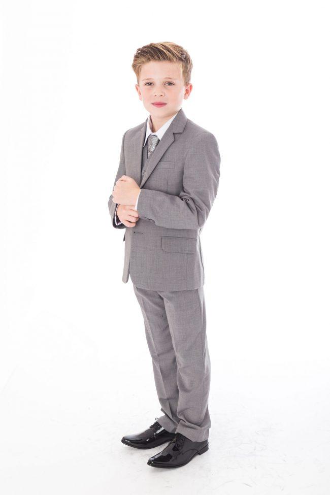 5 Pc Vivaki Light grey suit -1511