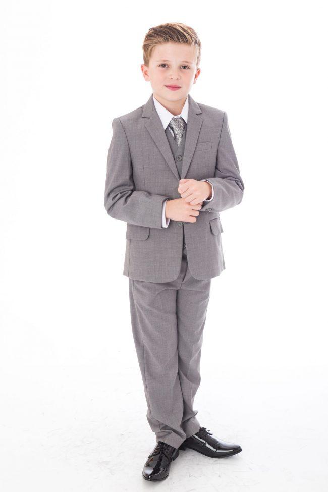 5 Pc Vivaki Light grey suit -0