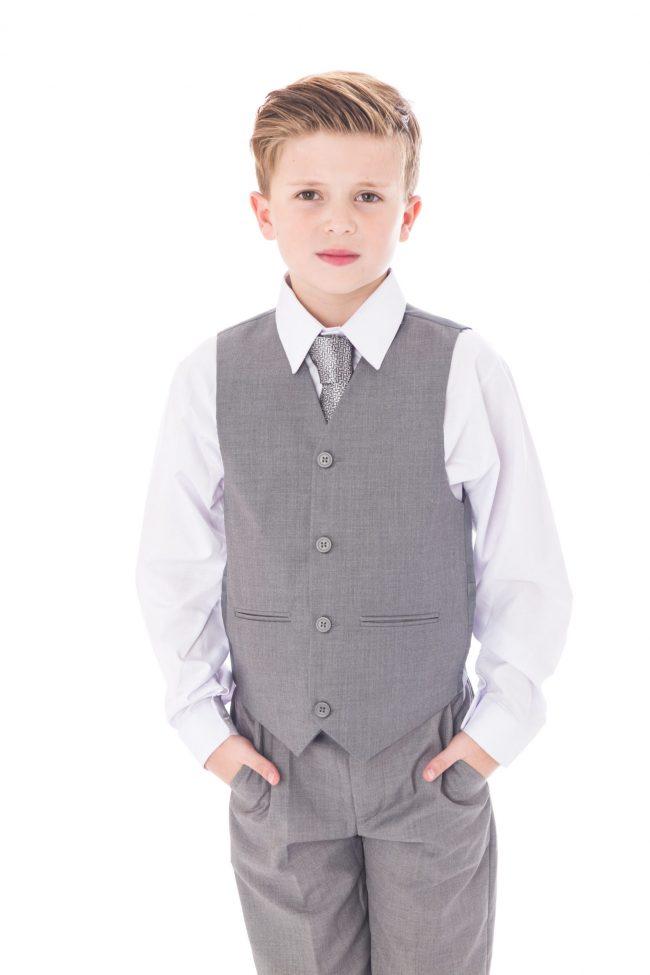 5 Pc Vivaki Light grey suit -1514