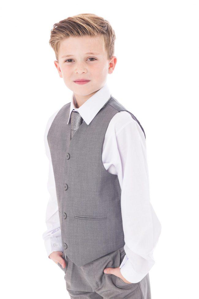 5 Pc Vivaki Light grey suit -1515