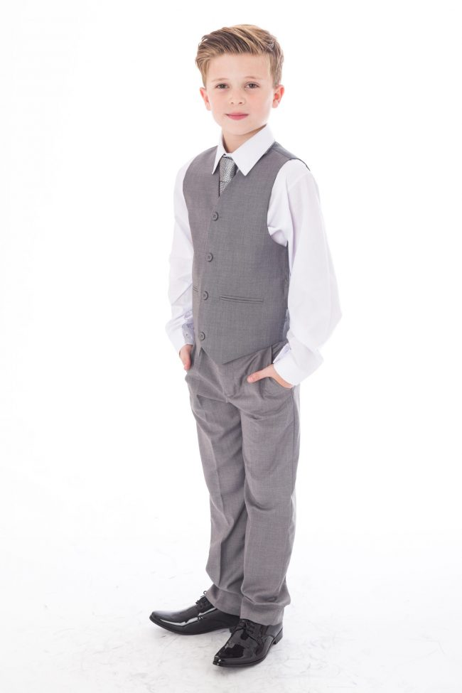 5 Pc Vivaki Light grey suit -1513