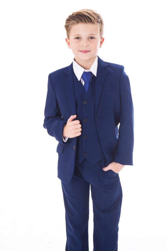 5pc Vivaki Blue Suit -1500