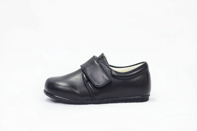 BOYS EARLY STEPS PRINCE SHOES IN MATTE BLACK-1553