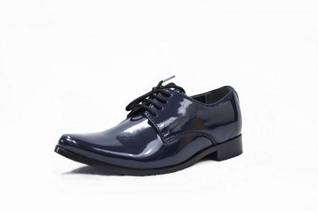 NAVY PATENT GEORGE SHOE-1551