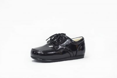 Boys Early Steps Royal Black Patent-0