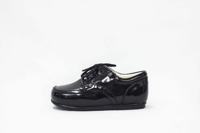 Boys Early Steps Royal Black Patent-1563