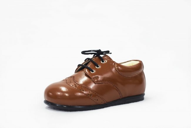 Boys Early Steps Brogue Brown Patent-1561