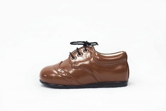 Boys Early Steps Brogue Brown Patent-1560