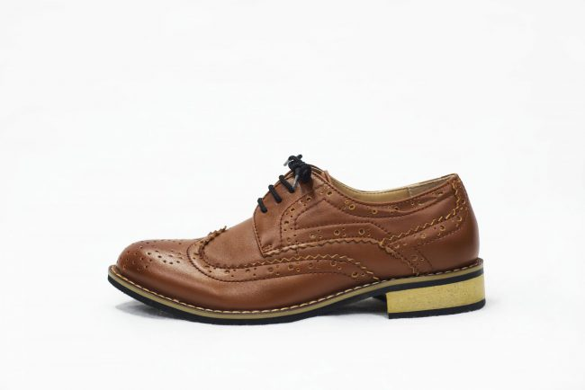 Brown Brogue Vivaki Shoe -1540
