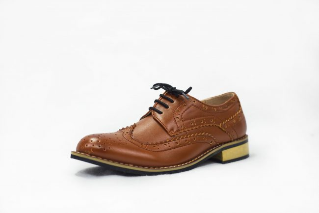 Brown Brogue Vivaki Shoe -1542