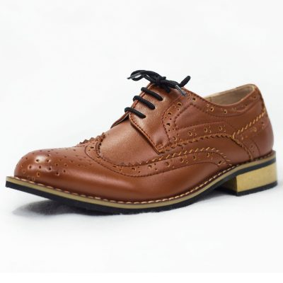 Brown Brogue Vivaki Shoe -0